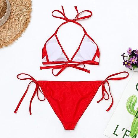 Allywit Womens Lipstick Print Surf Suit Prone Swimsuit Swimwear Two Piece Beachwear