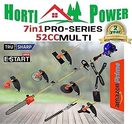 7 in1 Ultimate herramienta de jardín 52 cc motosierra desbrozadora cortasetos: Amazon.es: Bricolaje y herramientas