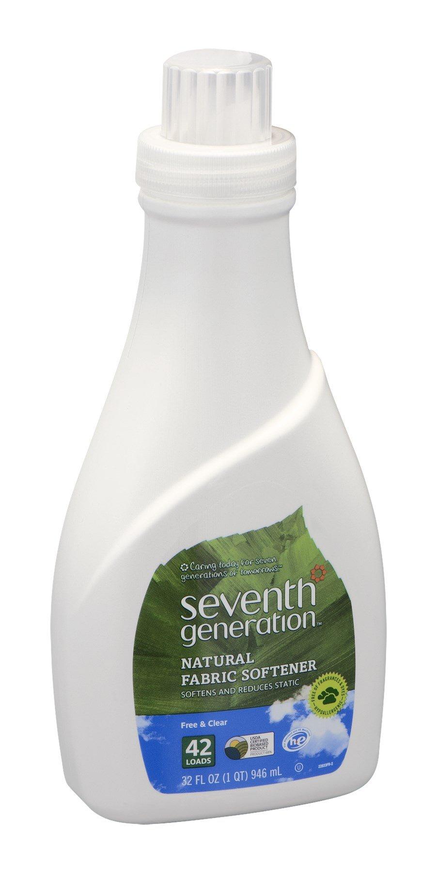 Natural Liquid Fabric Softener 32 Ounces (Case of 6)