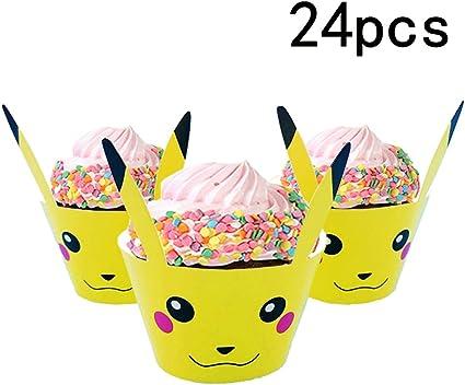 Awe Inspiring Amazon Com Pokemon Party Supplies Cupcake Wrapper For Kids Funny Birthday Cards Online Hetedamsfinfo