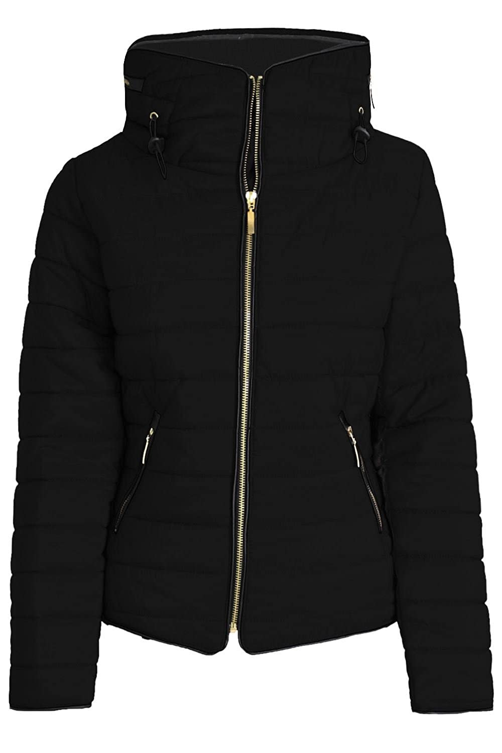 552fa72128e8 Amazon.com  Be Jealous Kids Girls Coat Padded Quilted Puffer Bubble ...