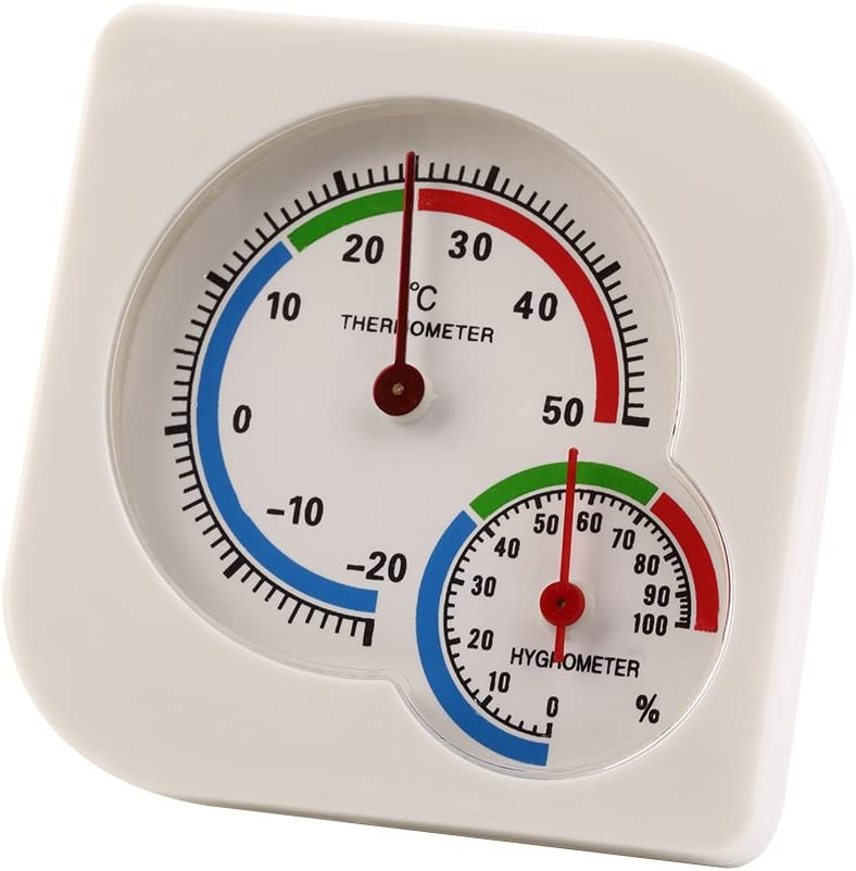 GreceMonday Classic Homeuse Indoor Outdoor 2 In 1 Mini Accurate Wet Hygrometer Humidity Thermometer Temperature Meter Mechanical