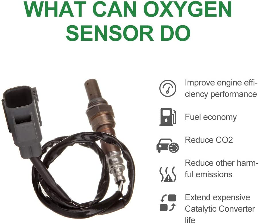 SCITOO Air Fuel Ratio Sensor Oxygen Sensor O2 Front Upstream Front 234-9020 with 4 Wires 24.4 Inches Length fit 1999-2000 Volvo S70 V70