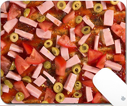 Luxlady Gaming Mousepad Ham with olives and tomatoes 9.25in X 7.25in IMAGE: (Edible Ham)