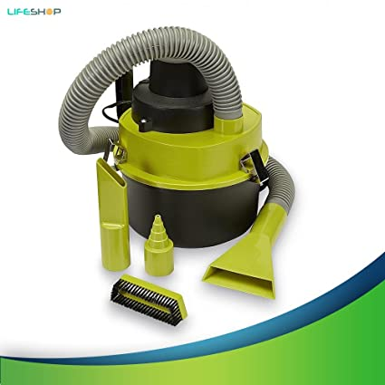 LifeShop Turbo Wet and Dry Lightweight Durable Car Vacuum Cleaner with Multiple Attachment Head