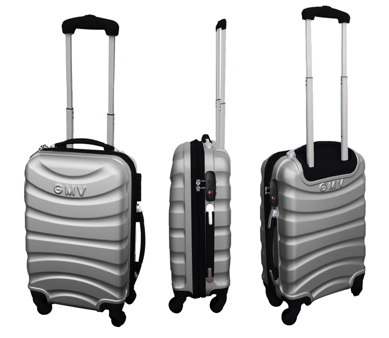 Argent Couple Chariot Cabine Valise Hand Dur Bagages Cabine Size GianMarcoVenturi 018//D/_ Rouge