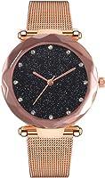 Womens Wristwatch, Balakie Stylish Star Space Stainless Steel Mesh Band Bracelet Analog Quartz Watch-A182 Fine Gift