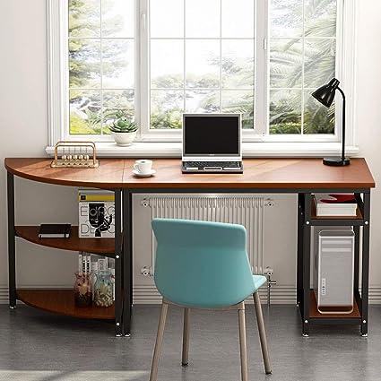 Desks & Tables Independent Computer Desk L-shaped Workstation With Side Storage Shelf Office Corner Table