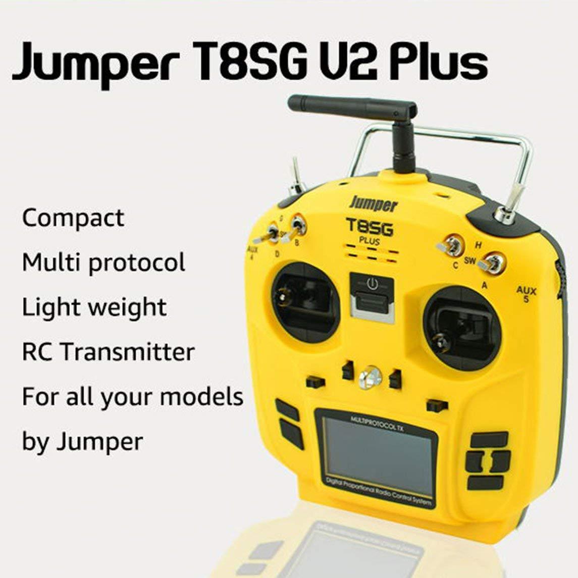 Footprintse T8SG Jumper V2 / V2.0 Plus/Erweiterte Multi-Protokoll 12CH Compact Transmitter-Farbe:Gelb Schwarz
