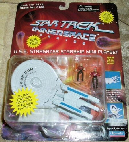 (Star Trek U.S.S. Stargazer Starship Mini Playset w/ Picard & Q Innerspace Series)