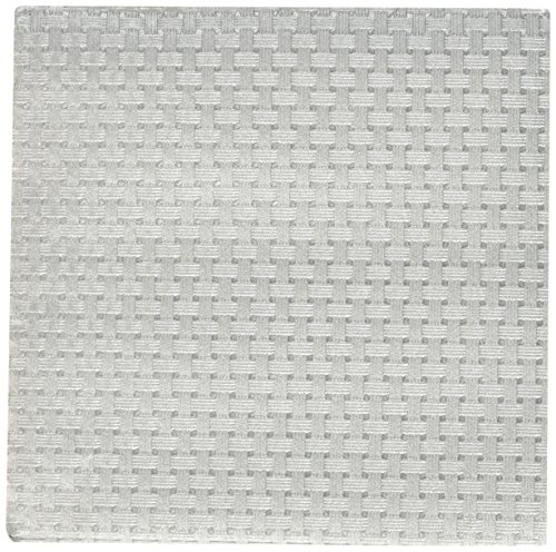 7206 PPD Paper Beverage Embossed Soho Napkin, 5 by 5-Inch, Silver Metallic ()