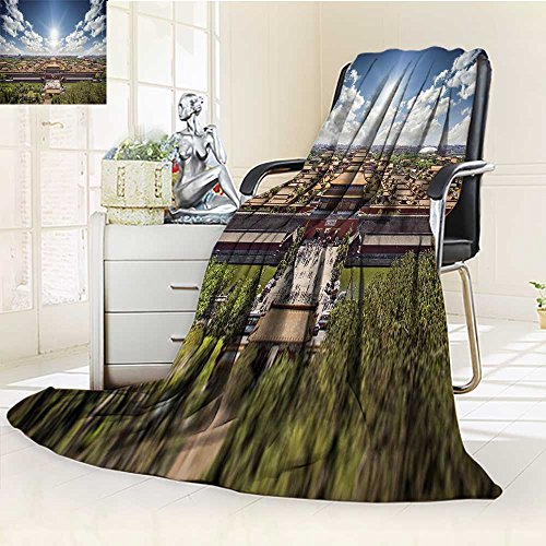 YOYI-HOME Luxury Collection Ultra Soft Plush Fleece Surreal The Imperial Palace Warm Microfiber All Season All-Season Throw/Bed Blanket/47 W by 59