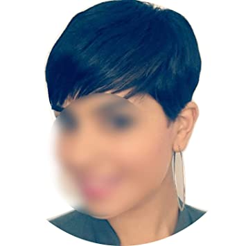 Amazon.com : 4Inch Short Straight Human Hair