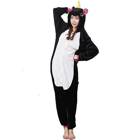 Unicornio Pijamas Felpa Unicornio Arcoiris Disfraces Ropa de dormir Traje de dormir Casa Víspera de Todos