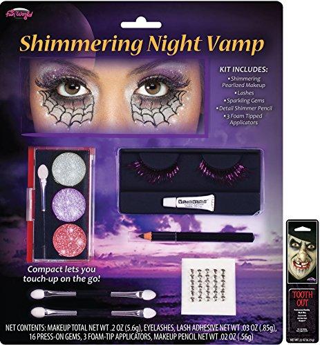 Potomac Banks Shimmering Night Makeup Kit (Vamp) with Free Pack of Makeup -