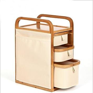 ZXLIFE@Caja de almacenamiento de cosméticos de bambú de la joyería creativa acabado de bastidores cajas de almacenamiento cajas de almacenamiento de ...