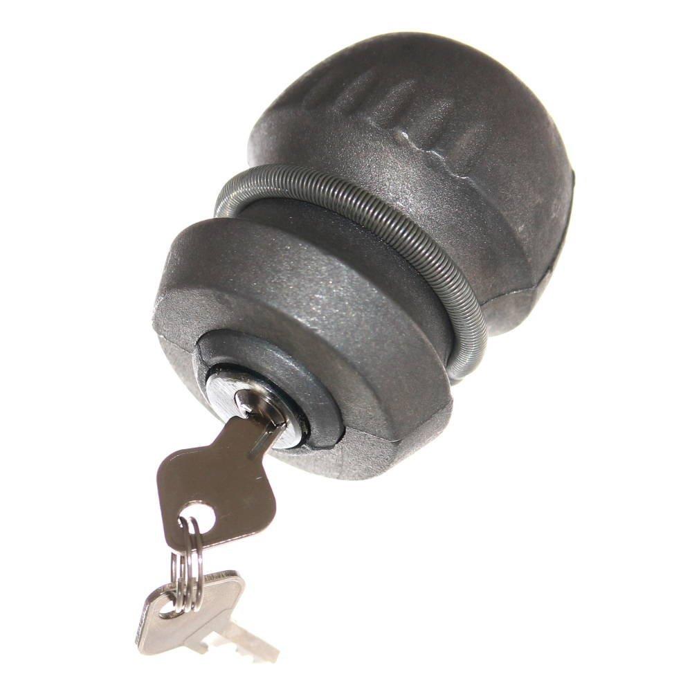 1 Kugel Deichselschlo/ß f/ür Anh/änger Sicherung Schlo/ß mit 2 Schl/üssel f/ür 50mm Kugelkupplung Deichsel Neu Otto Harvest