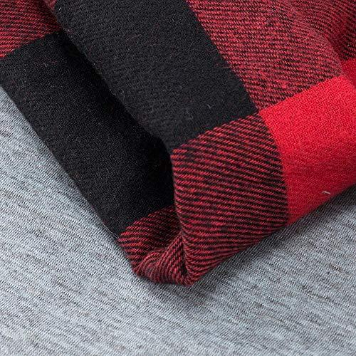 Cervo Donna Rovinci Lunga Stampa Manica Collo A Da Camicetta Di Moda Sciarpa Alce Reticolo Lunghe Maniche 1 Rosso T Camicia shirt Testa Lettera 45AqZryA