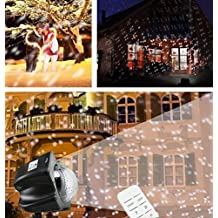 Lightess 6W Snowflake LED Projector Lights for Christmas Snow Lamp Moving Outdoor or Indoor Waterproof Landscape Spotlights With Remote Control