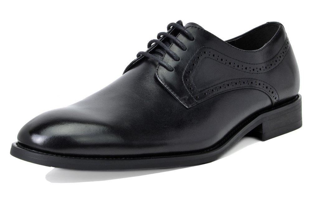 Bruno Marc Men's Waltz-2 Black Genuine Leather Dress Oxfords Shoes Size 9.5 M US