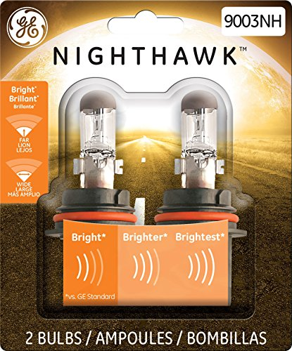 GE Lighting 9003NH/BP2 Nighthawk Halogen Replacement Bulb, 2-Pack