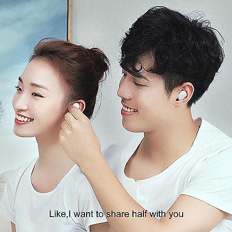Dewanxin Xiaomi Bluetooth Auriculares Wireless Versión Juvenil Xiaomi Airdots Bluetooth V5.0 con Micrófono Auriculares Estéreo Built-in Mic Handfree Earbuds ...