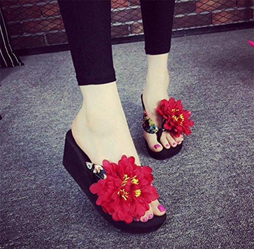 Las patas acolchadas de espinilla Arrastrar evitar el deslizamiento de tierra, calzado fresco verano señoras Beach Shoes 2