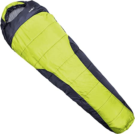 Various Colours Klarfit Gullfoss Sleeping Bag 4-Season with Synthetic Fill and Two-Layer Construction Two-Way Zip and Drawnings for Optimum Heat Control 230x80x55cm, 2-Ply, 1.5kg