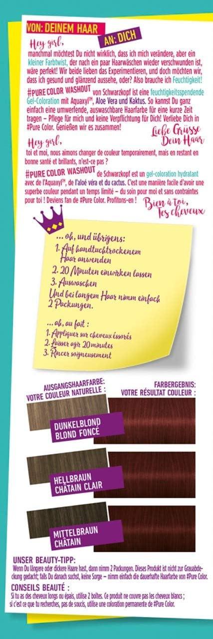 Schwarzkopf #Pure Color Washout 6.8 - Tinte para el cabello ...