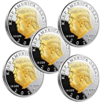 Donald Trump Coin 2020 - Gold Plated Collectible Coin,45Th President Art Collection, Show Your Support to Keep America…