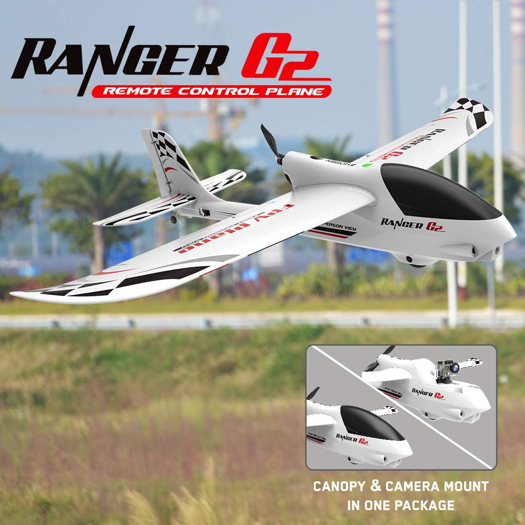 VOLANTEX RC Glider, Ready To Fly Remote Control Airplane, with 720p Video Head, 2.4Ghz 4CH Glider Aircraft FPV RTF Fixed Wing Plane, With 6-Axis Gyro, EPO RC Plane Trainer Plane, 34.65x47.24in by HAWC-US Direct