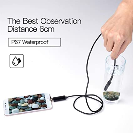 Qinqin666 Hohe Qualit/ät Endoskop-Kamera 7MM 2 in 1 Mikro-USB-Mini-Camcorder wasserdichte Endoskop Inspektionskamera for PC Smart Phones Inspektionskamera, Cable Length : 1m