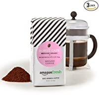 Deals on 3-Pack AmazonFresh Donut Cafe Ground Coffee 12 Ounce