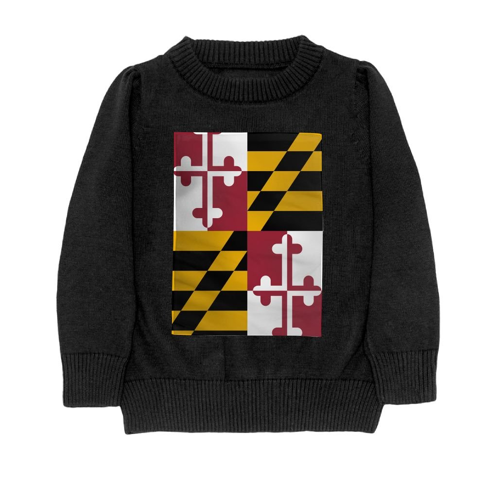 DTMN7 Flag of Maryland Teens Sweater Long Sleeves Crew-Neck Youth Athletic Casual Tee Junior Boys