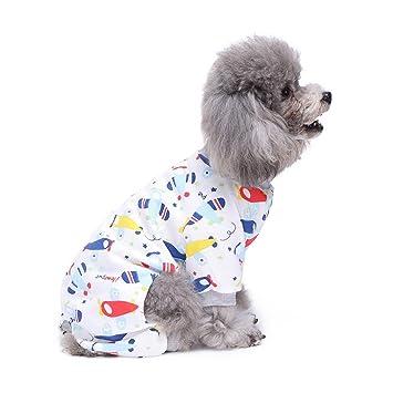 S-Lifeeling - Traje de pijama para perro, diseño de avión, cómodo,
