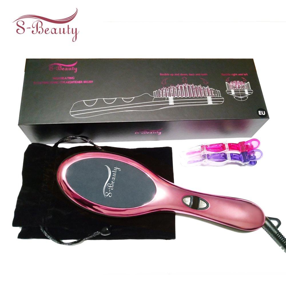 3 en 1 ionischer alisador de cabello Cepillo redondo, de cerámica calefacción glättb, calentamiento rápido con MCH Tecnología, color rosa: Amazon.es: Salud ...