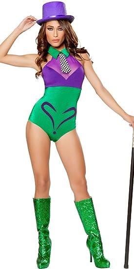c1ce58cce9b Musotica Girl s Dark Knight Joker Halloween Costume - Purple Green - Small