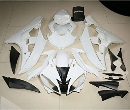 TCMT ABS Unpainted White Injection Fairing Bodywork Cowl Kit Kit For YAMAHA YZFR1 YZF R1 2009-2011