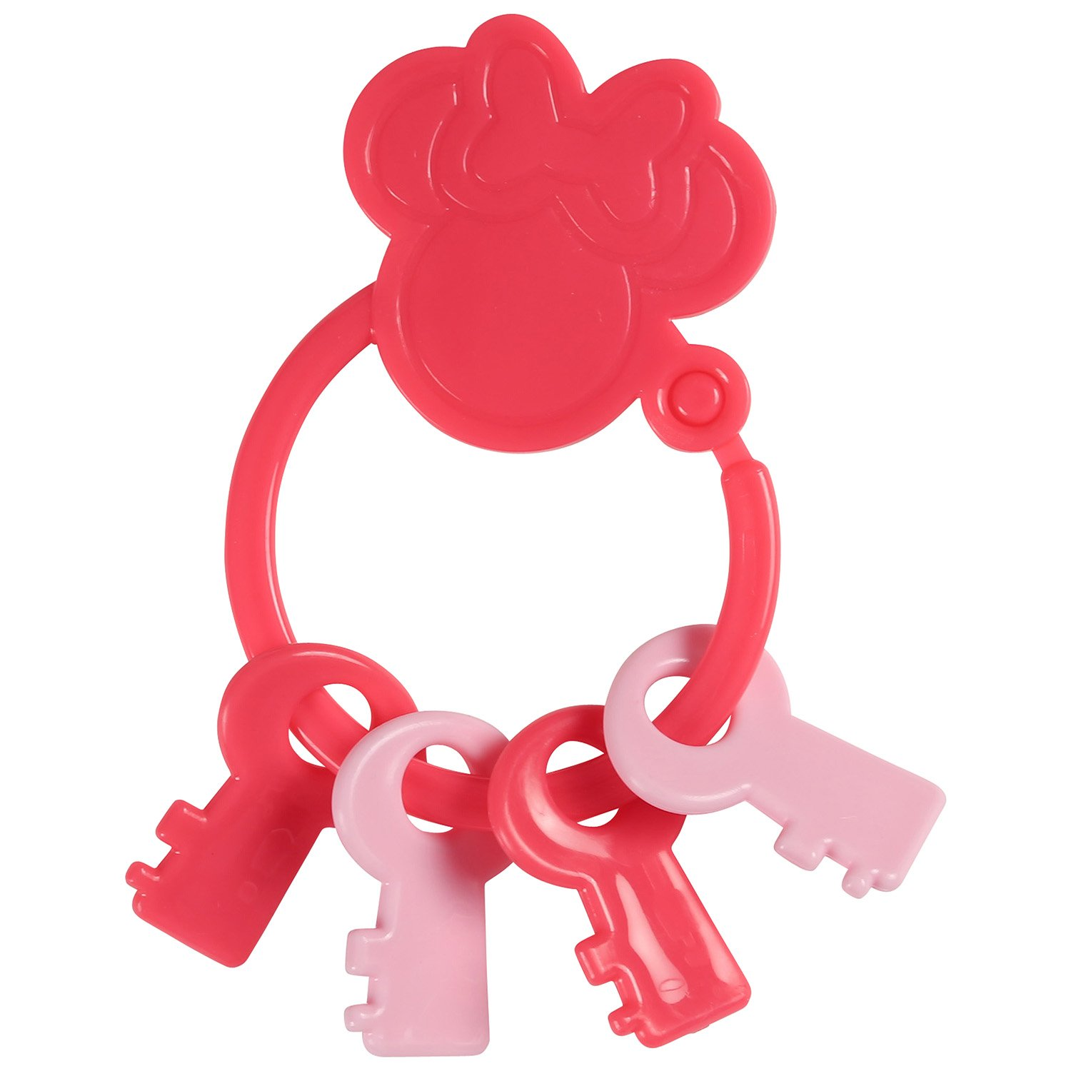 Disney Minnie Mouse Key Shape Keyring Teether