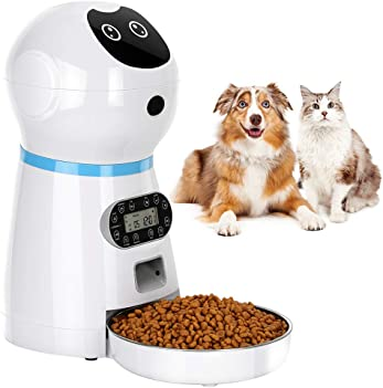 5. TTPet Automatic Timed Dog Food Dispenser, Timer Programmable up to 4 Meals a Day