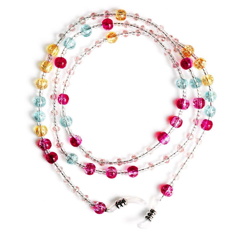 Ajetex Multi-Colored Crystal Beads Sunglass Strap 70cm