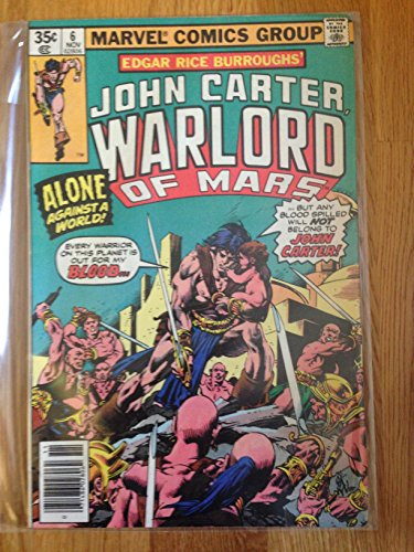 MARVEL COMICS GROUP JOHN CARTER WARLORD OF MARS NO.