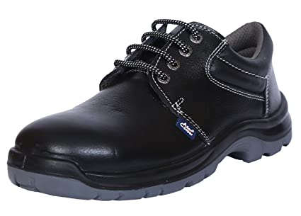 cccd48424b7 Allen Cooper AC-1275 Safety Shoe, ISI Marked for IS 15298 Part-2, Double  Density DIP-PU Sole, Size 7,Black