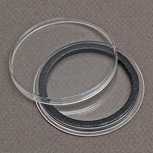 (25) Air-tite 39mm Black Ring Coin Holder Capsules for 1oz Silver & Copper Rounds Casino Chips