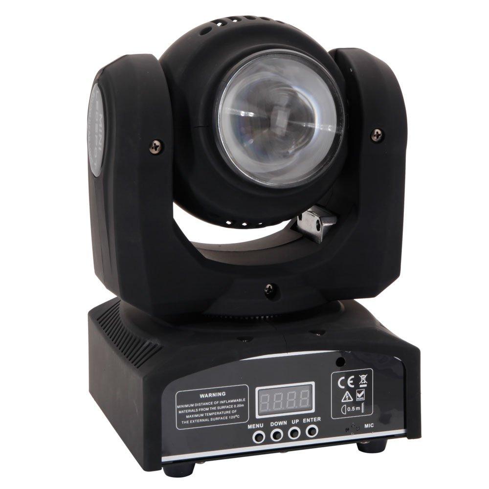 PrettyDate Stage Lamp 100W DMX512 / Auto/Sound Active/Master-Slave LED Double Side Moving Head Mini(AC 100