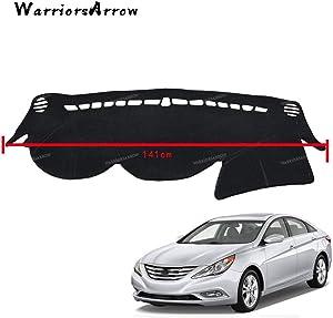 Black LHD Dashboard Cover Dashmat Dash Mat Pad Sun Shade Dash Board Cover Carpet For Hyundai Sonata 2011-2014