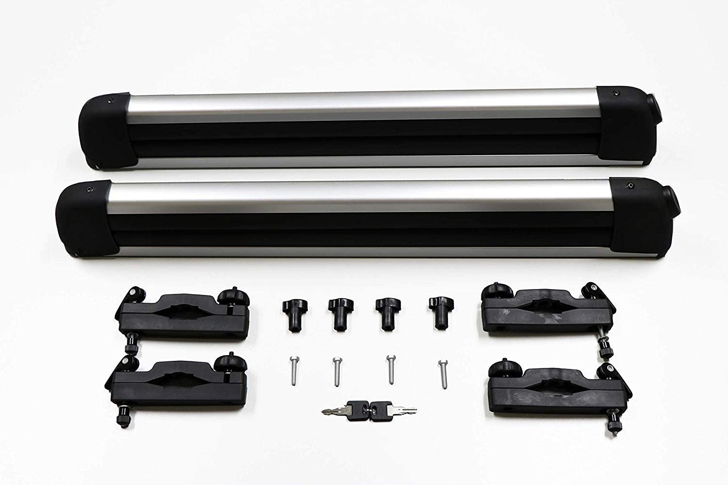 BRIGHTLINES Universal Ski Snowboard Racks Carriers 2pcs Mount on Vehicle top Cross Bars Up to 6 Skis or 4 Snowboards