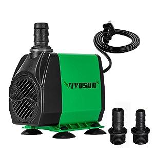 VIVOSUN Submersible Ultra Quiet Water Pump