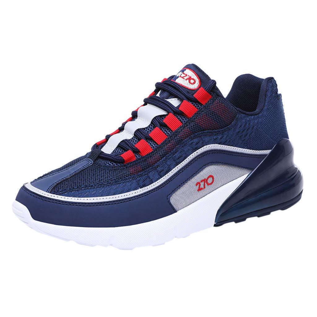 Men's Sport Shoes Fashion Mesh Breathable Slip-on Running Lightweight Walking Sneakers (Blue, EU:44/US:9.5)