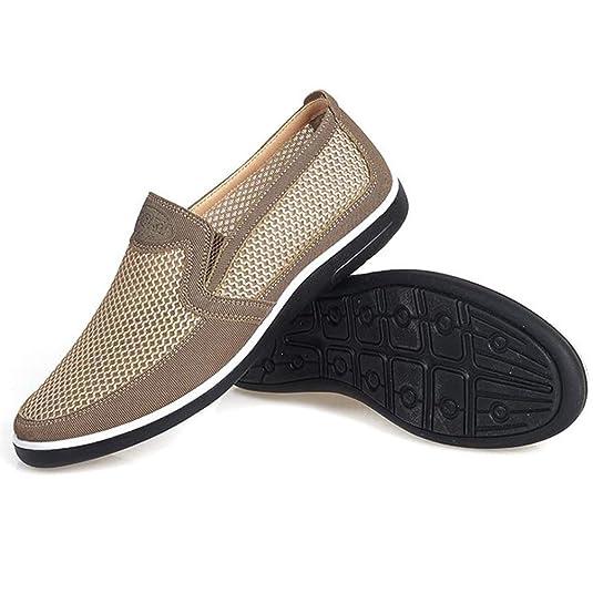 Aire Malla Hombres Zapatos Verano Transpirable Slip on Mocasines Calzado Casual Hombres Alpargatas Plana: Amazon.es: Zapatos y complementos